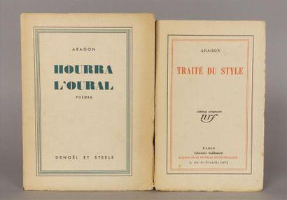 ARAGON Louis. Traité du style. Paris, Gallimard,...