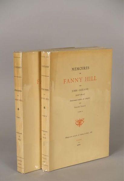 CLELAND John. Mémoires de Fanny Hill. Paris,...
