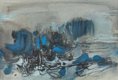 CHU The-Chun (1920-2014). Composition n°...