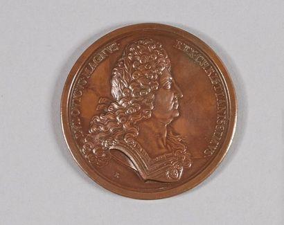 LOUIS XIV (1643-1715). Médaille. 1697. Roëttiers....