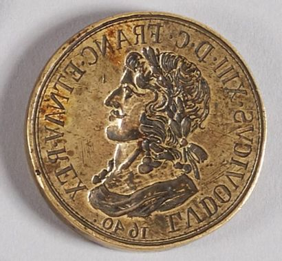 LOUIS XIII (1610-1643). Matrice pour médaille,...