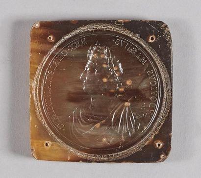 LOUIS XIV (1643-1715). Empreinte en écaille...