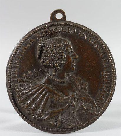 CHARLOTTE MARIE de CONDÉ. Médaille uniface....
