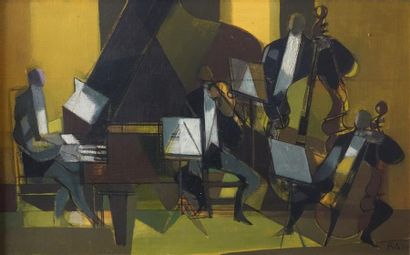 Camille HILAIRE (1916-2004). L'Orchestre Huile sur toile, signée en bas à droite....