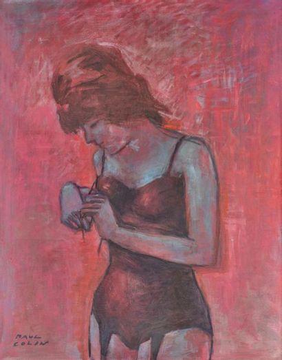 Paul COLIN (1892-1985). Le déshabiller Huile...