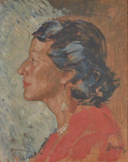 Étienne DRIAN (1885-1961). Portrait de Simone...