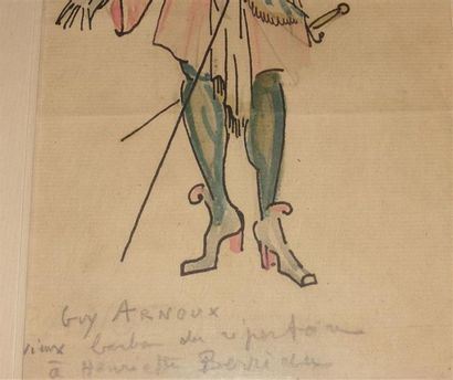 Guy ARNOUX (1886-1951). Vieux barbon du répertoire Dessin et aquarelle, signé, titré...