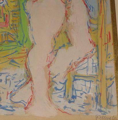 Fikret MOUALLA (1903-1967). Gouache, signée en bas à droite. Haut. : 33 cm ; Larg....