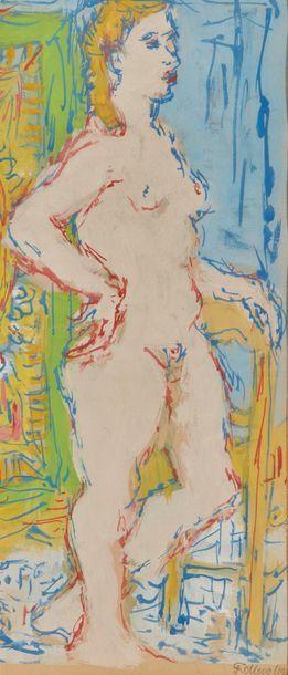 Fikret MOUALLA (1903-1967). Gouache, signée...