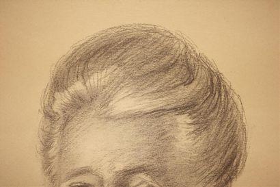 Paul COLIN (1892-1985). Portrait de femme Dessin signé vers le bas à droite et daté...