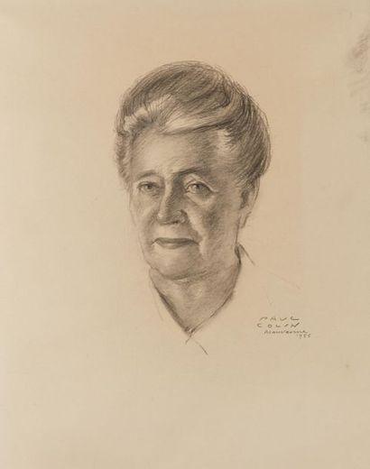 Paul COLIN (1892-1985). Portrait de femme...