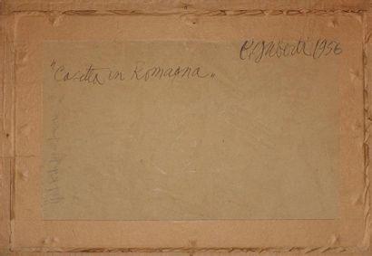 Baldo GUBERTI (1907-1974). Cassetta in romagna Huile sur carton, signée, située...