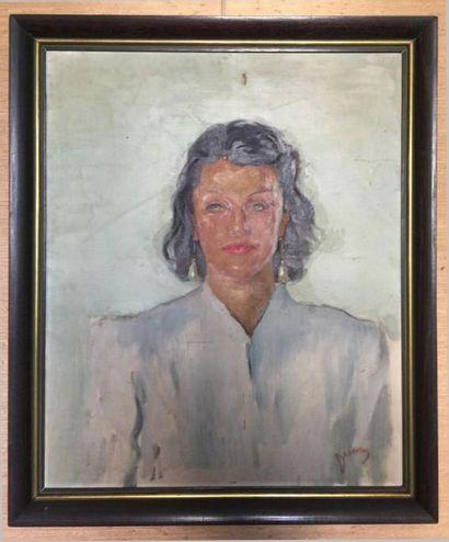 Étienne DRIAN (1885-1961). Portrait de Simone BERRIAU, comédienne et directrice...