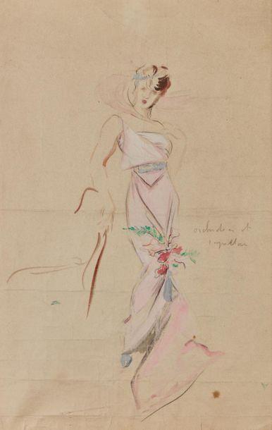 Attribuée à Étienne-Adrien DRIAN. Portrait...