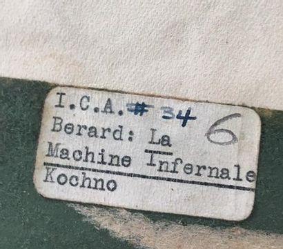 Christian BÉRARD (1902-1949). Projet de costume pour le soldat de la Machine Infernale...
