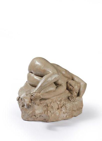 Maurice GOTTLOB (1885-1970). Femme allongée...