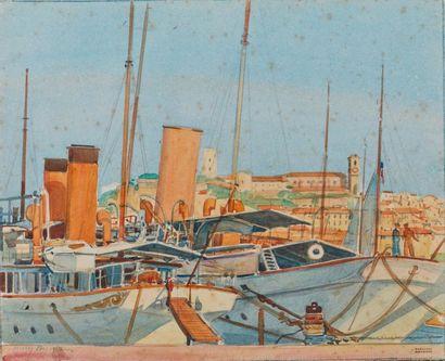 Tony MINARTZ (1870-1944). Cannes, le Vieux...