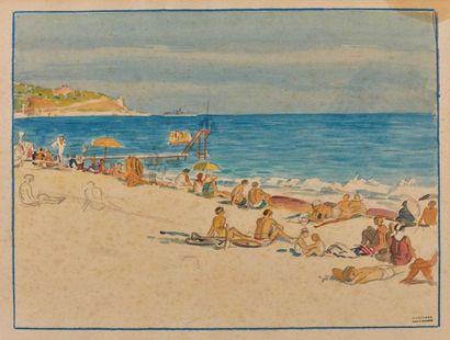 Tony MINARTZ (1870-1944). Plages animées...
