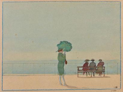 Tony MINARTZ (1870-1944). L'Estacade à Cannes...