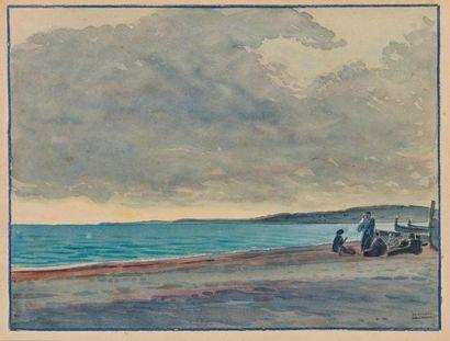Tony MINARTZ (1870-1944). Bord de mer, ciel...