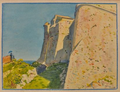 Tony MINARTZ (1870-1944). Château fortifié...
