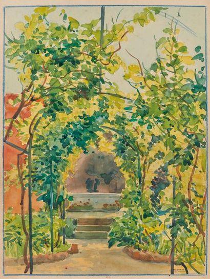 Tony MINARTZ (1870-1944). Tonnelle - Promeneuses...