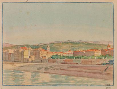 Tony MINARTZ (1870-1944). Village en bord...