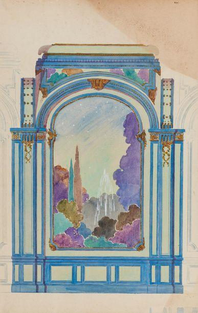 Tony MINARTZ (1870-1944). Projets de décors...