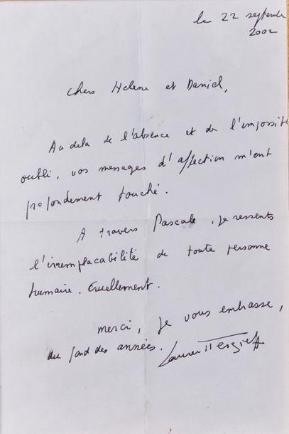 Laurent TERZIEFF (1935-2010). Lettre datée...