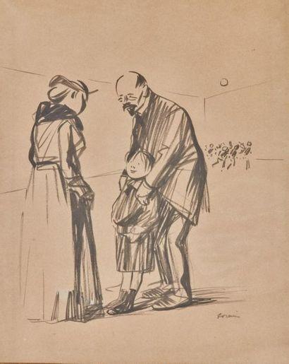 Jean-Louis FORAIN (1852-1931). Maître d'école...