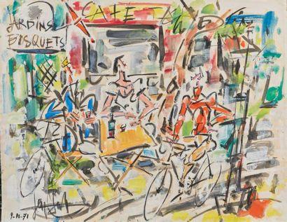 GEN PAUL (1885-1975). Café : Jardins Bosquet...