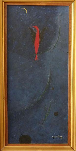 Jean-Joseph CROTTI (1878-1958). Chant - Hymne à la Lune Huile sur toile, signée...
