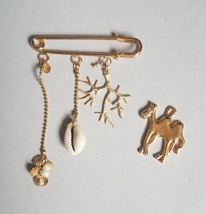 Lot de bijoux fantaisie : INES de la FRESSANGE, pendentif