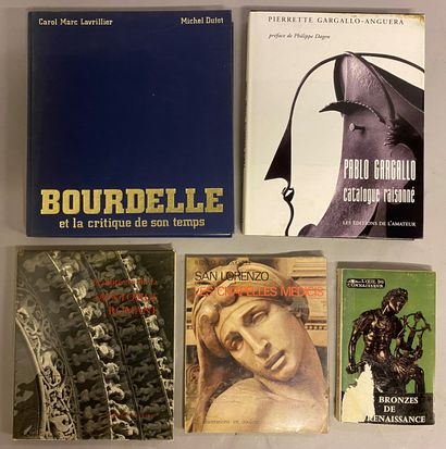 ART-SCULPTURE] 5 vols.  - Carol Marc LAVRILLIER,...