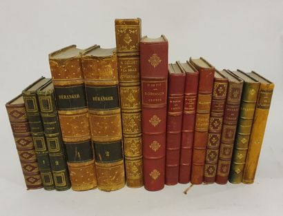 *Lot of 14 volumes on French Literature:...
