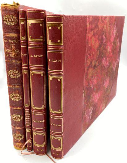 HISTOIRE- DAYOT] 4 vols.  Armand DAYOT, La...