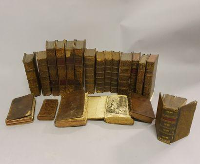 *Lot of 20 volumes, 18th century bindings...