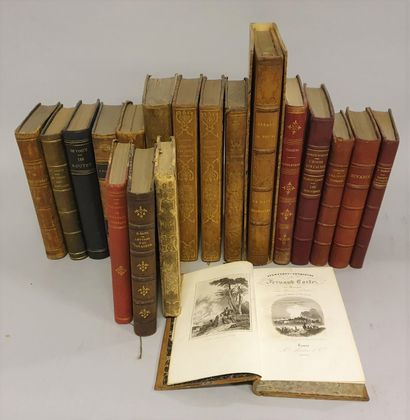 *[TRAVEL AND MISCELLANEOUS]  Lot of 19 volumes:...