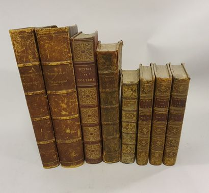 Lot of 8 volumes, 18th and 19th century...