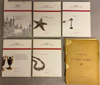 ART - CATALOGUE OF SALE] 6 vols.  - Collection...