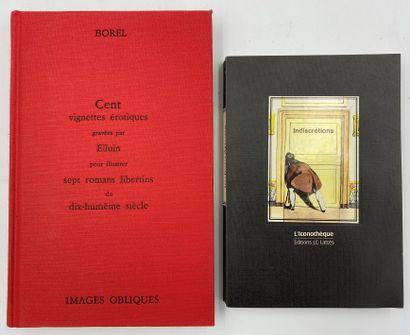EROTICA] 2 vols.  BOREL, Cent vignettes érotiques...