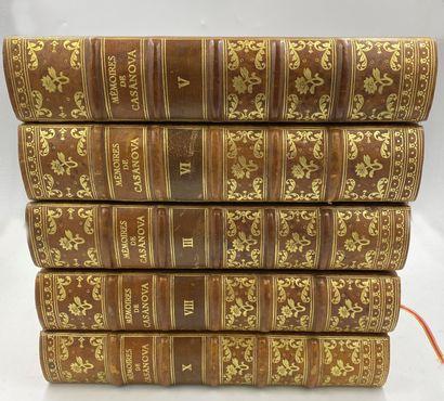 CASANOVA] 10 vols.  CASANOVA DE SEINGALT,...