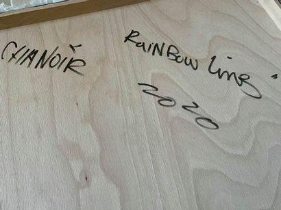"""CHANOIR CHANOIR  """"RAINBOW LINES"""", 2020  Technique mixte sur bois signé, titré et..."""