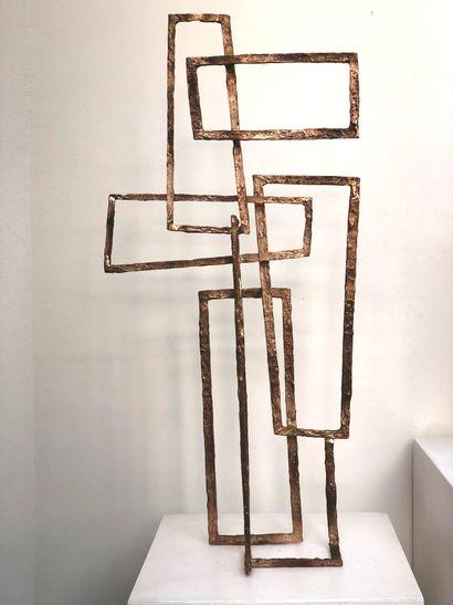 """Delphine BRABANT Delphine BRABANT """"PAYSAGE XI"""" Epreuve en bronze signé H: 66 cm -..."""