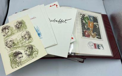 3 Cartons France Classique, SM et Moderne (faciale) + Monaco + Maroc + Cosmos + Enveloppes 1er Jour + Albums CEF.**/*/O