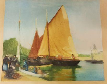 DESCHAMPS ( ?) (Peintre breton du XXe siècle)