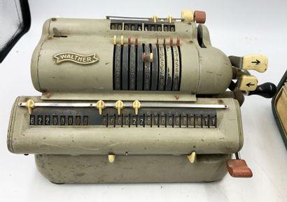 Ensemble de machines de bureau, divers modèles  dont addiprestof, Hamman Automat Modell T,