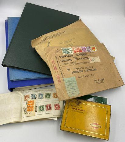 1 Carton Vrac du Monde Entier SM et Moderne sur fragment en majorité timbres d'Egypte.