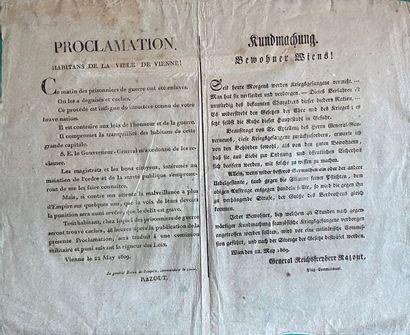 Proclamation en français et en autrichien, sur deux colonnes :