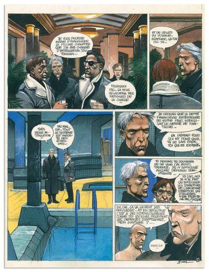 Enki BILAL ENKI BILAL PARTIE DE CHASSE Dargaud 1983 Planche originale n°38, prépubliée...